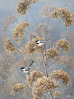 Dried Flowers and Chickadees