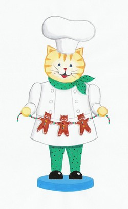 Chef with Gingerbread Katz
