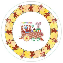 Gingerbread Train Plate