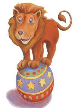 Lion on Ball