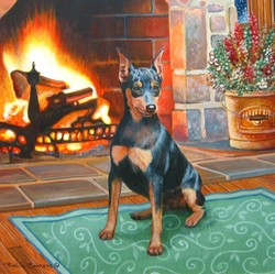 Min Pin with Fireplace