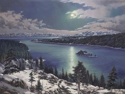 Emerald Bay By Moonlight